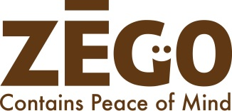 ZEGO logo brown